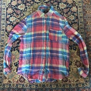 UO plaid button up
